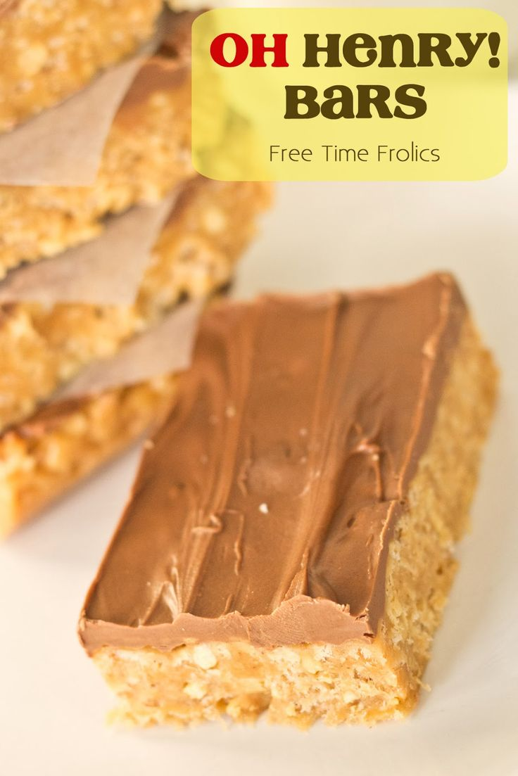 Oh Henry Bars Recipe via Free Time Frolics #recipe #ohhenry