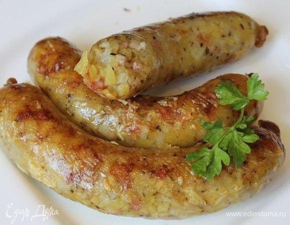 «Ведарай» — литовские картофельные колбаски на гриле. Ингредиенты: картофель, лук репчатый, сало