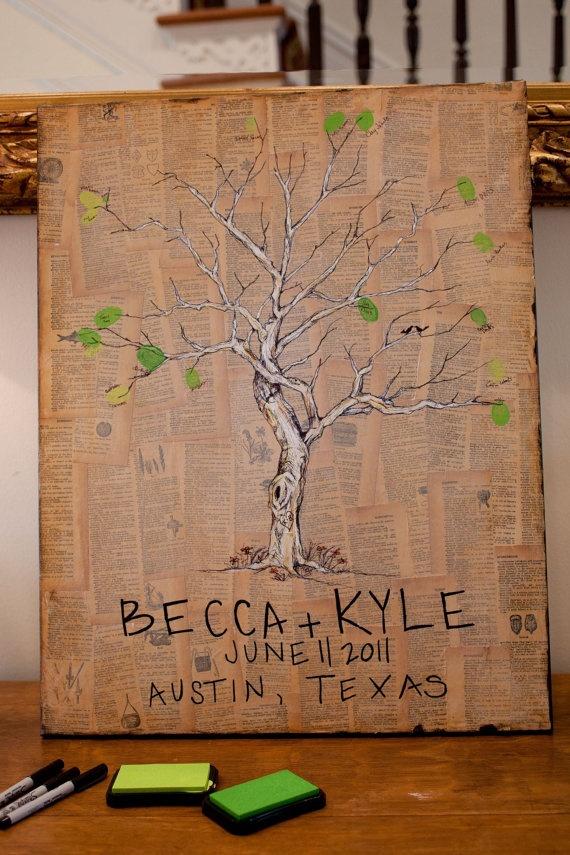 custom painted wedding tree