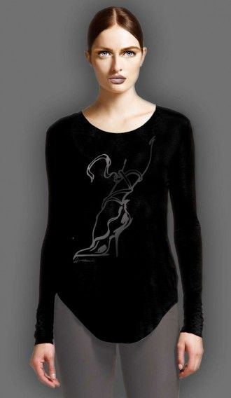 Glitter Pewter 34 Black long sleeve tee