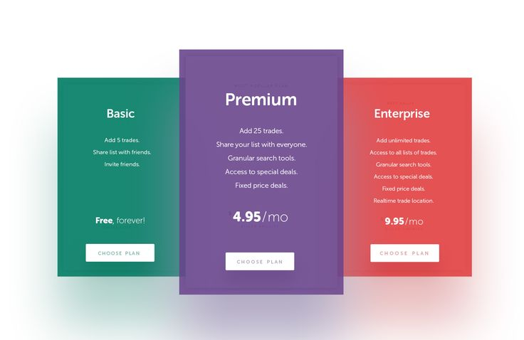 Pricing Freebie .PSD More PSD: 72pxdesigns