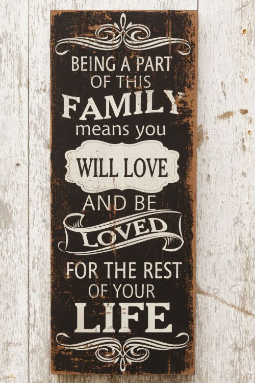New Primitive Shabby BEING A PART OF THIS FAMILY MEANS LOVE Chalkboard Sign #Country