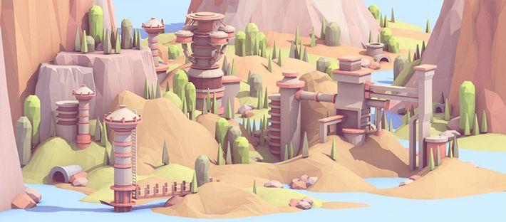Behance :: Lakeside City 02 by Timothy J. Reynolds