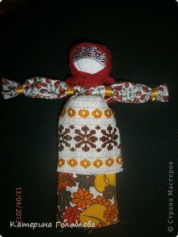 Куклы Куклы-мотанки Вата Кружево Ленты Нитки Ткань фото 1