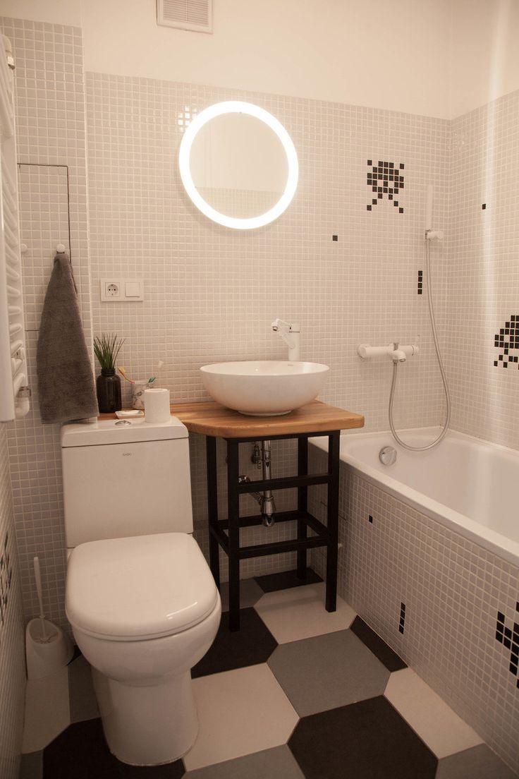 Фотография: Ванная в стиле Скандинавский, Квартира, Проект недели, двухкомнатная…