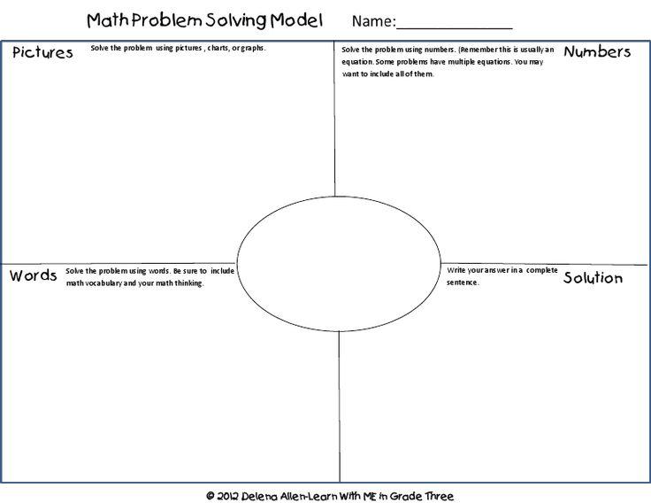 math problem solving model freebie/TASK sheet @Pamela Harrah Massey