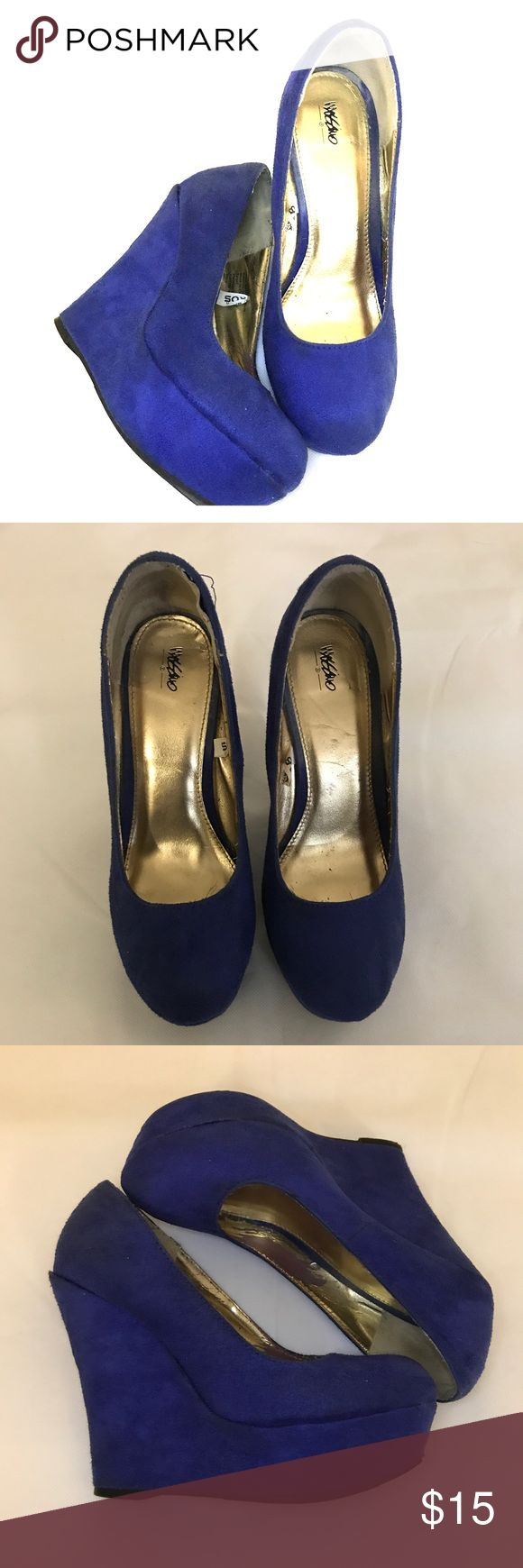 targets mossimo blue wedge heels targets mossimo blue wedge heels minimum wear and tare! Fair condition Mossimo Supply Co Shoes Wedges