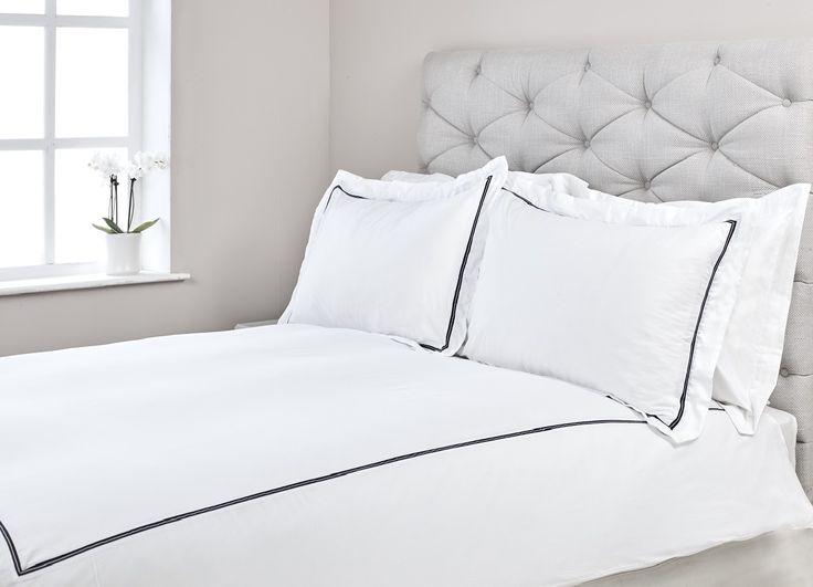 Parure housse de couette Capri 120 fils en coton Bio avec taie(s) d'oreiller