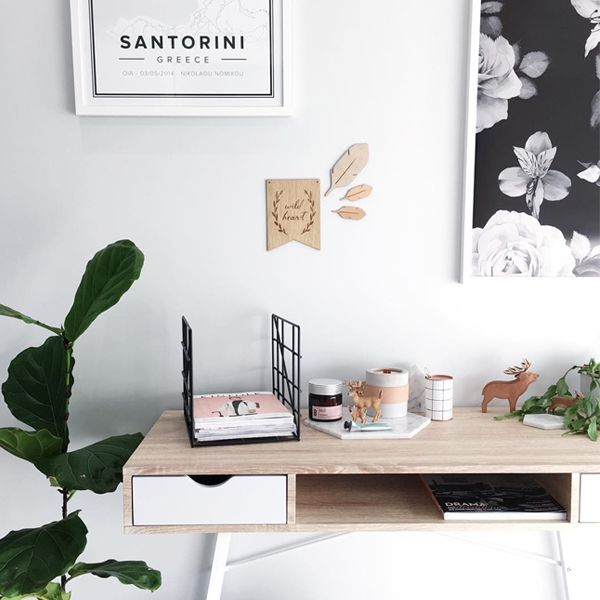 The Mocka Vigo Desk, styled by Kyree Meagher of Miss Kyree Loves. Shop Now at www.mocka.co.nz