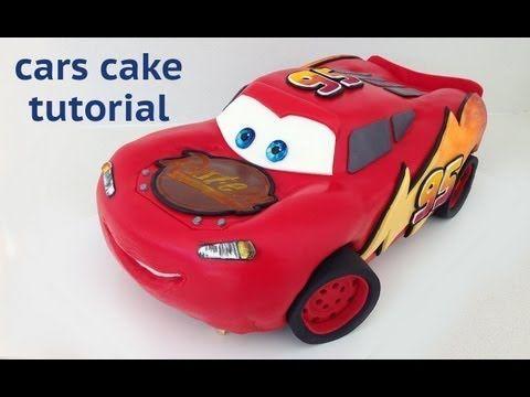 Cars Cake Tutorial HOW TO COOK THAT Disney Lightning McQueen Ann Reardon - YouTube