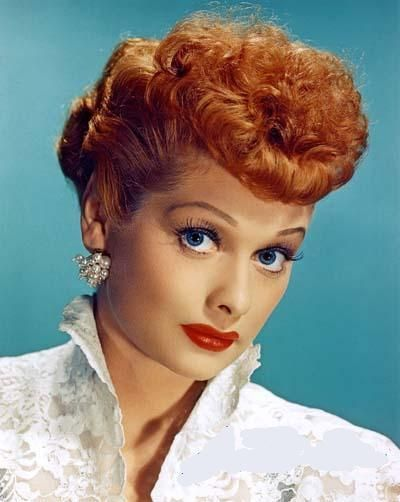 Lucy's iconic red hair set her apart from the blondes in the industry. #styleicon #modcloth