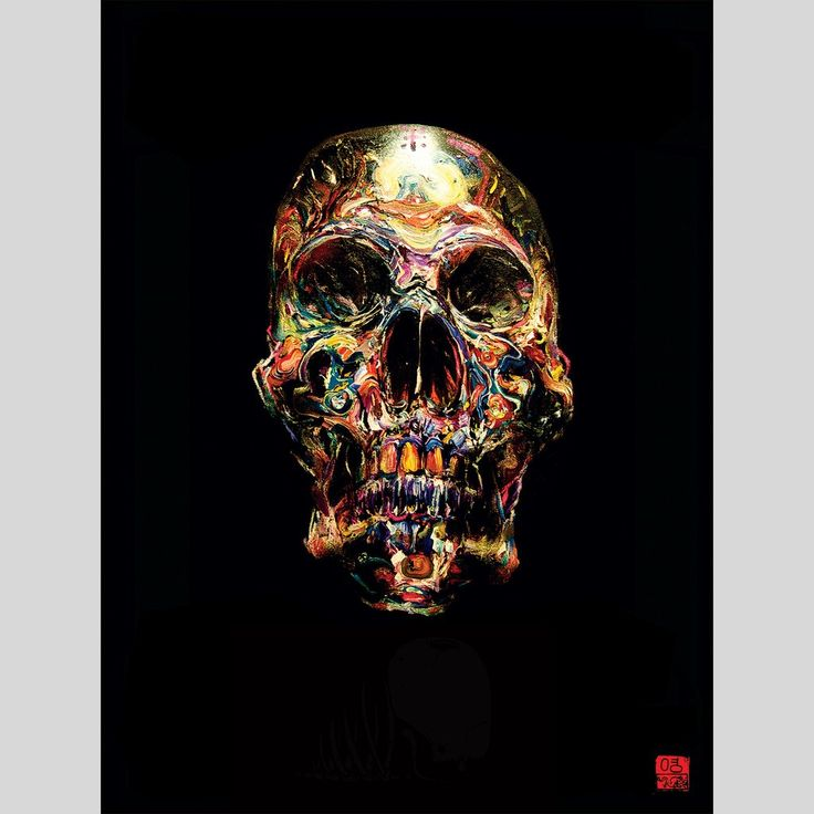 "fifty24 - Soulscraper Poster by David Choe - ""The best skull ever painted in history."" By David Choe"