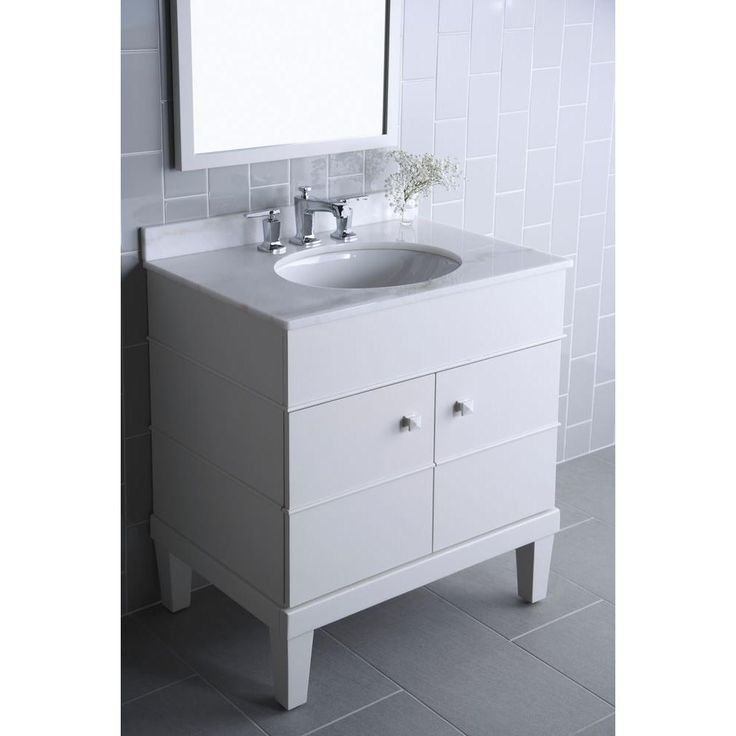 Photo Album Gallery KOHLER Evandale in W x in D x in H Vanity in Lily with Lily Basin
