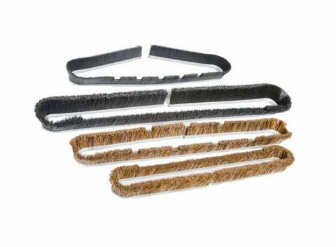 Horse hair vacuum brush