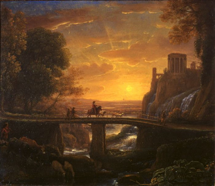 """Claude Lorrain, """"Landscape with an imaginary view of Tivoli"""", The Courtauld Gallery, London"""
