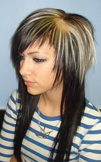 star pattern hair color. this style is realy starting to grow on me :/