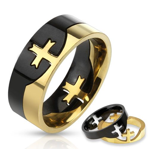 Cross Puzzle Ring