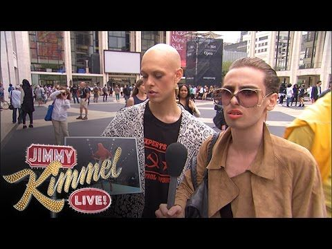 Jimmy Kimmel Proves That People At Fashion Week Are Full Of Sh*t (Video)