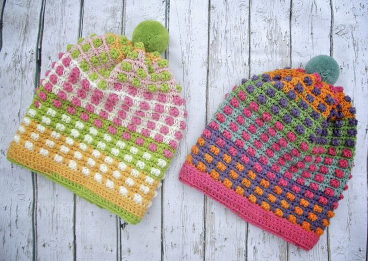 Bubble Gum Pop Hat Crochet Pattern Caron (ad-free pdf) – Crochet