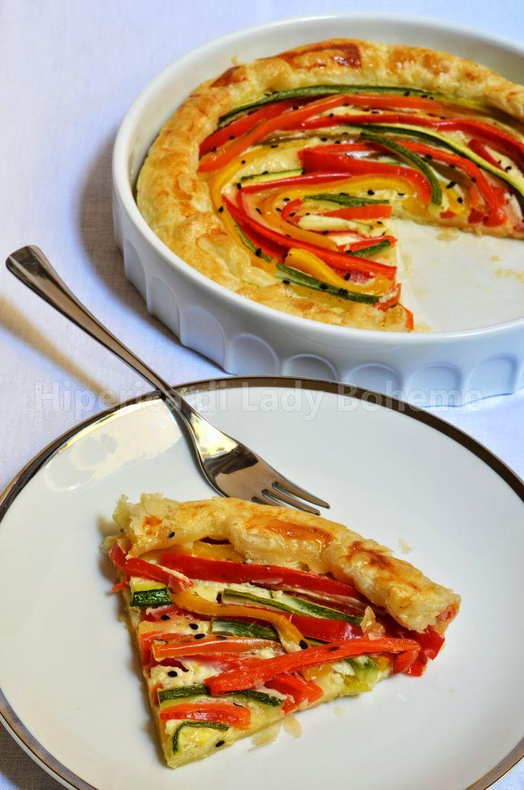 ITALIAN FOOD - QUICHE ESTIVA CON PEPERONI E ZUCCHINE (PEPPERS AND ZUCCHINI QUICHE)