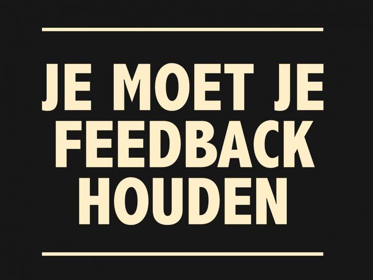 Bedankt voor je feedback