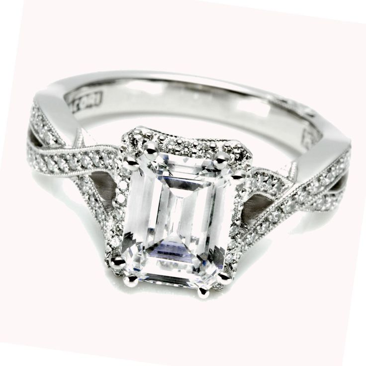 129 best Emerald Cut Diamond Engagement Rings images on Pinterest