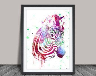 Impresión del arte elefante arte acuarela por FineArtCenter en Etsy