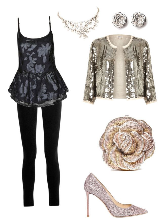 """""""Silver and Black"""" by heatherjoy123 on Polyvore featuring J Brand, City Chic, Judith Leiber, Jimmy Choo, River Island, LeiVanKash and plus size clothing"""