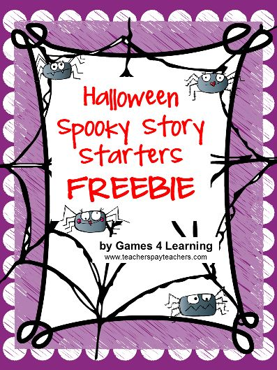 best holiday themed language arts images   bie spooky halloween story starters from games 4 learning fun ideas for halloween writing activities
