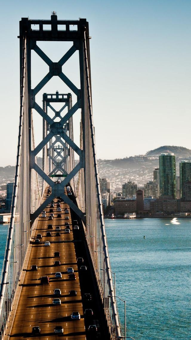 Oakland Bay Bridge - love this angle of view