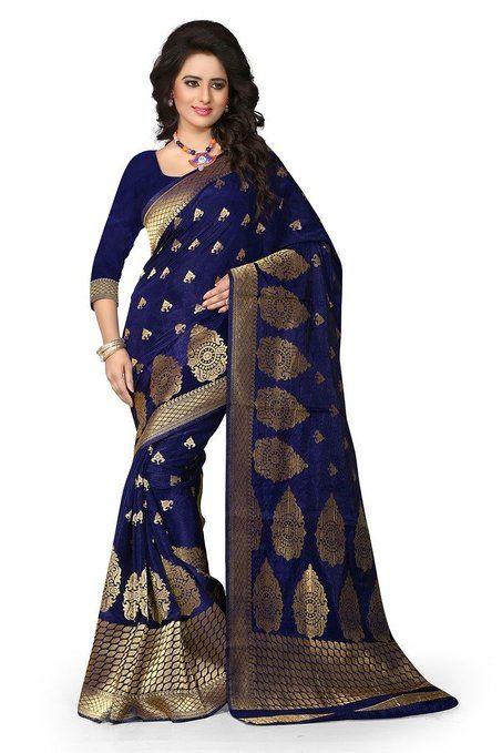 Shree Sanskruti Women's Tassar Silk Saree (sharma Nevy blue 715_Nevy Blue)