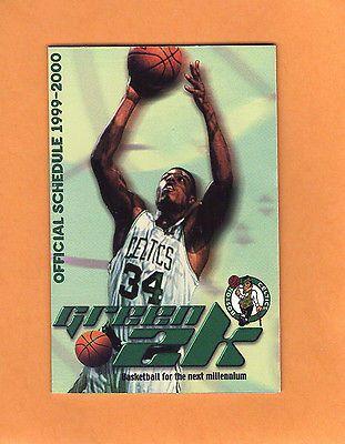 1999-2000  NBA BASKETBALL BOSTON CELTICS GAME POCKET SCHEDULE