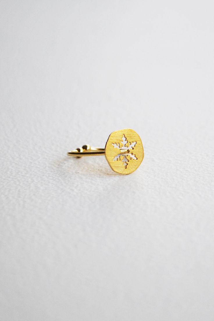 Snowflake Δαχτυλίδι - ΑΞΕΣΟΥΑΡ -> Κοσμήματα | Made of Grace