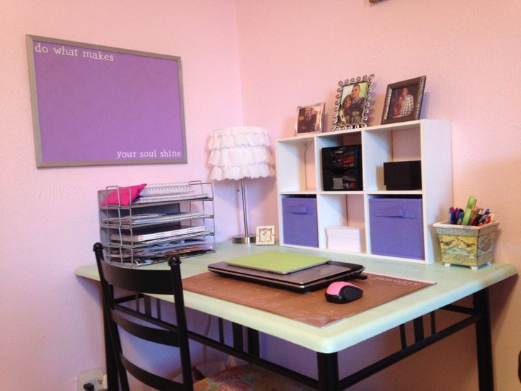 Organized Home Office Lavender And Pink Get Organized