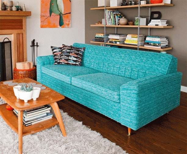 Love the color and texture of fabric on the sofa even if wrong color for my living room. Sofa almost exactly like my own.