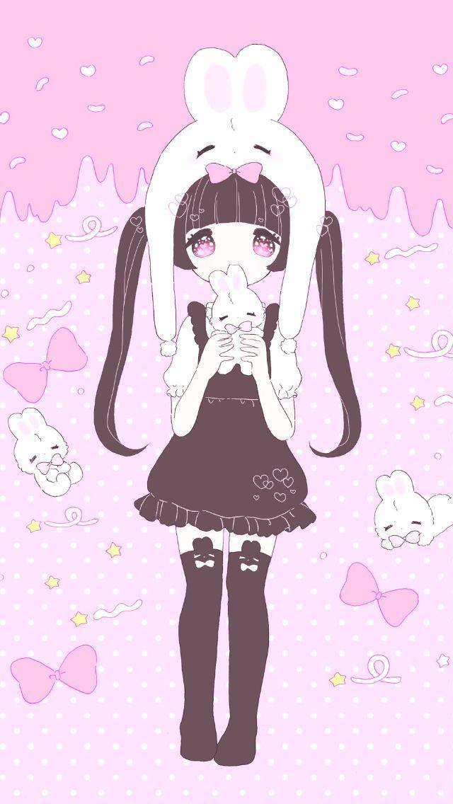 Wallpaper cute cartoon pinterest wallpaper kawaii - Girly girl anime ...