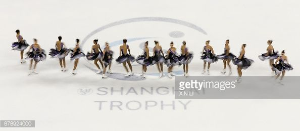 Team Paradise of Russia performs during a Synchronized Skating free skate duirng the 2017 Shanghai Trophy at the Oriental Sports Center on November 25, 2017 in Shanghai, China.