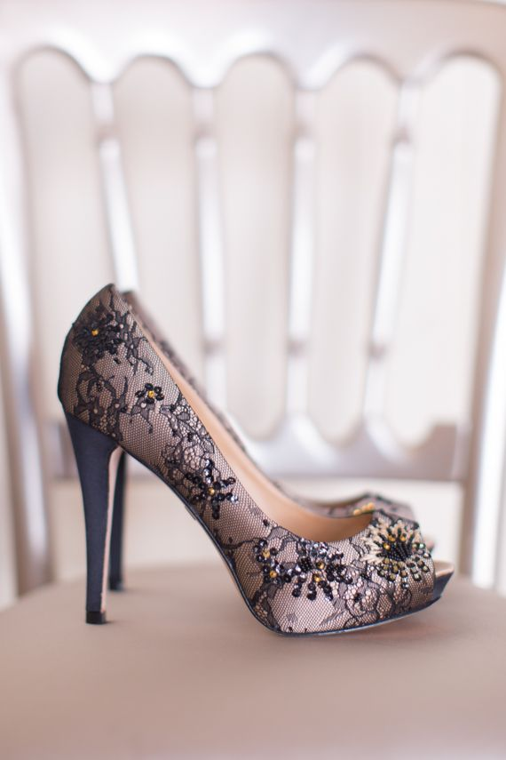 black and mauve wedding shoes