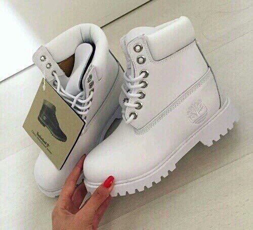 white, timberland, and shoes image