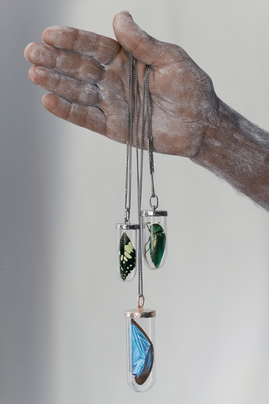 bjorg jewellery butterfly wing necklaces