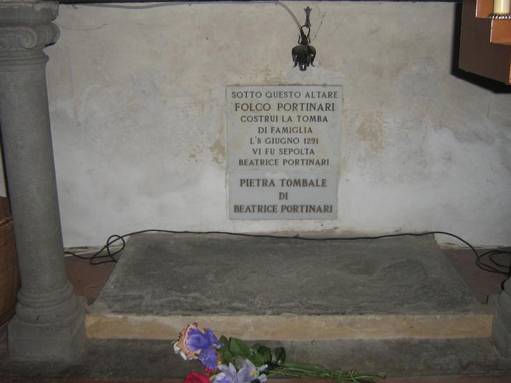 Beatrice Portinari - Chiesa di Santa Margherita dei Cerchi, Firenze