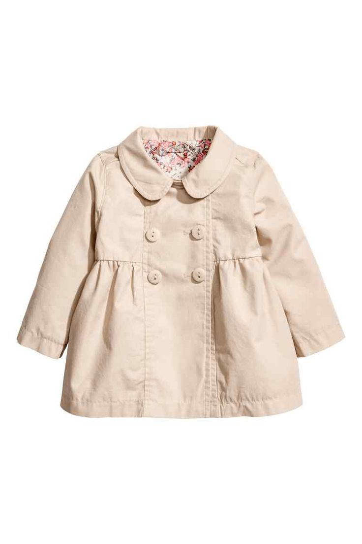 Cotton coat - Light beige - Kids | H&M GB 1
