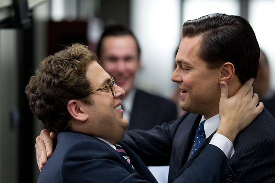 Jordan Belfort (Leonardo DiCaprio) and Donnie Azoff (Jonah Hill) from The Wolf of Wall Street (2013)
