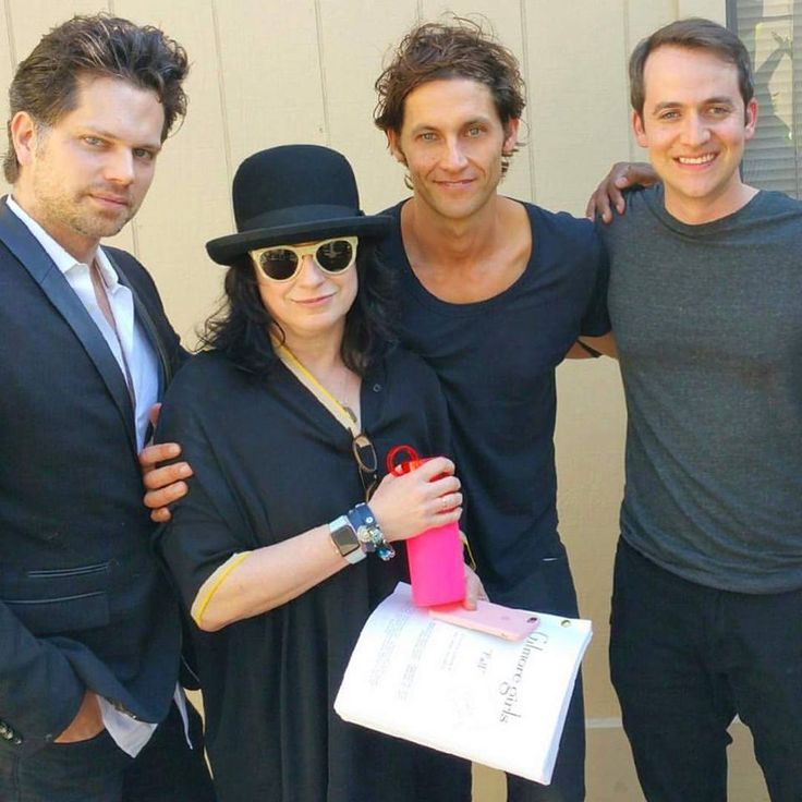 Nick Holmes (Robert Grimaldi), Amy Sherman Palladino, Tanc Sade (Finn), and Alan Loayza (Colin McCrae)
