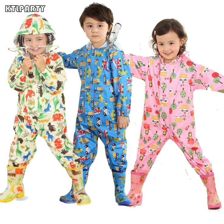 Folia przeciwdeszczowa KTLPARTY Dzieci cartoon płaszcze dzieci kombinezon odzież przeciwdeszczowa dla dzieci baby boy dziewczyna wodoodporne poncho deszczu płaszcz dzieci
