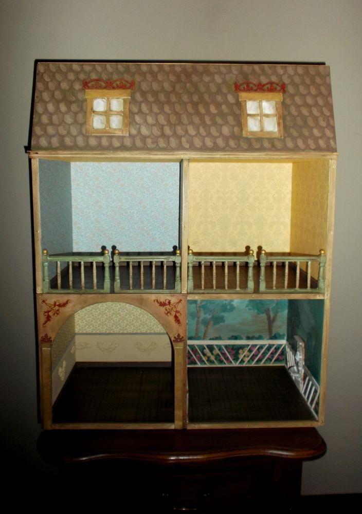 Wood Dollshouse Artist handmade, Dutch and German s.XVII Style #EdwardianVictorian