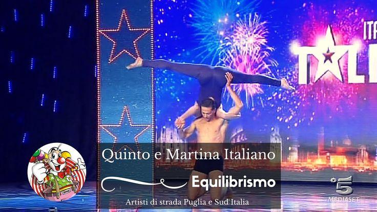 Quinto e Martina Italiano - equilibristi - Artisti di strada Puglia e Su...