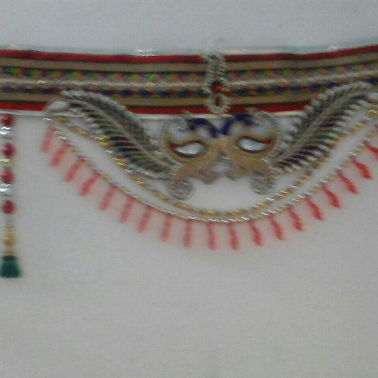 #bandhanwar#creative#hand made#craft work#customise#door hanging#decor#red n blue