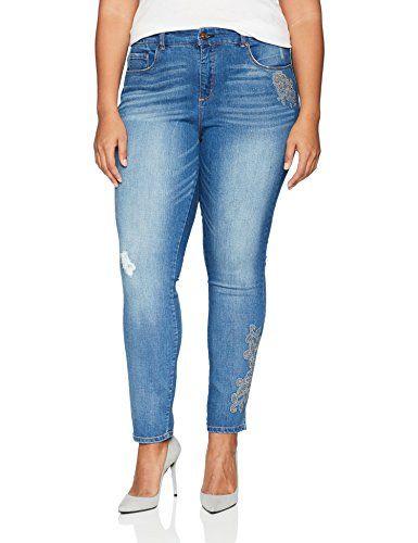 1a662c27a858b L.e.i. Women s Plus Size Boho Skinny Jean