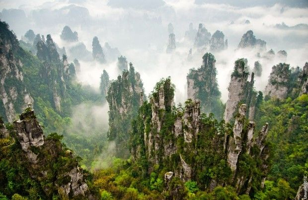 HALLELUJAH MOUNTAINS, CHINA. These Chinese mountains are ...